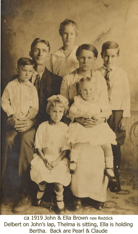 1919 John and Ella family