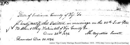 Allen-Hoskins-marriage
